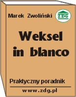 weksel in blanco